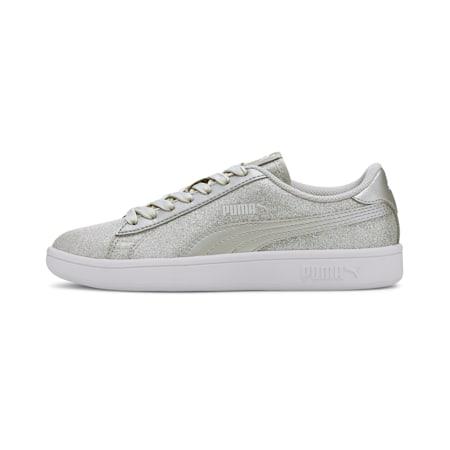 Smash v2 Glitz Glam Sneakers JR, Puma Silver-Puma Silver, small