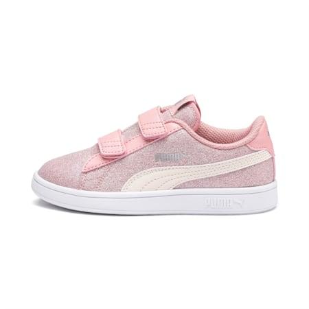 PUMA Smash v2 Glitz Glam Kid Girls' Shoes, B Rose-P Parchment-Silv-Wht, small-IND