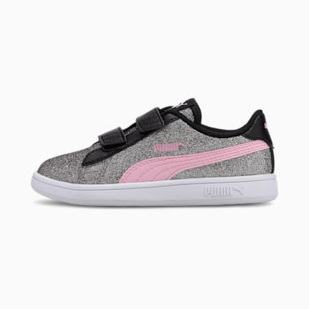 PUMA Smash v2 Glitz Glam Kid sportschoenen voor meisjes, Puma Black-Pale Pink, small