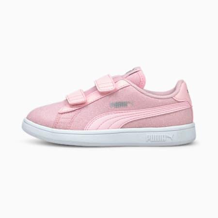 PUMA Smash v2 Glitz Glam Kid Girls' Trainers, Pink Lady-Pink Lady, small