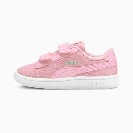 PUMA Smash v2 Glitz Glam sportschoenen voor (baby)meisjes, Pale Pink-Pale Pink, small