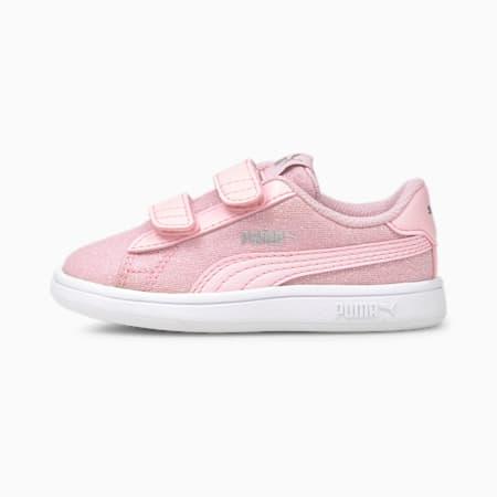 PUMA Smash v2 Glitz Glam Baby Girls' Trainers, Pink Lady-Pink Lady, small