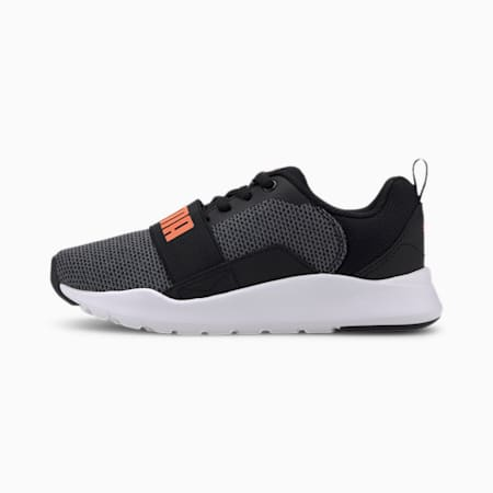 Wired Knit Kids' Sneakers, Puma Black-Firecracker, small-IND