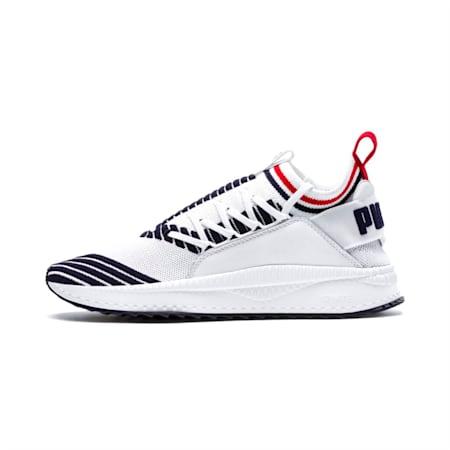 Evolution TSUGI Jun Sport Stripes Shoes, PWhite-Peacoat-RRed, small-IND