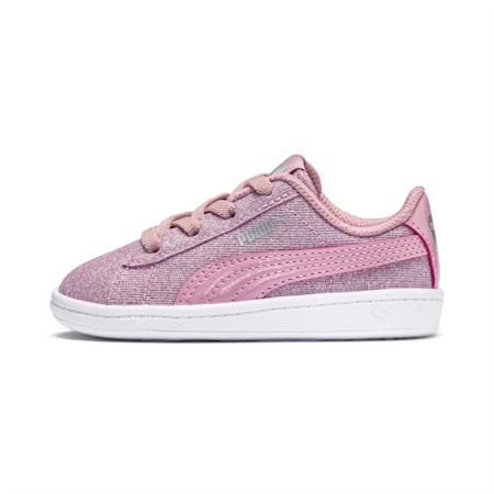 PUMA Vikky Glitz Little Kids' Shoes, Pale Pink-Pale Pink, small