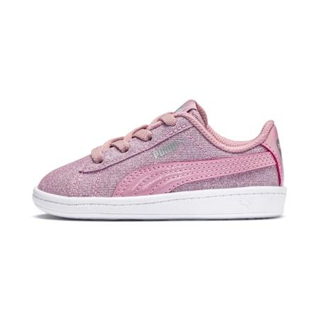PUMA Vikky Glitz AC Toddler Shoes, Pale Pink-Pale Pink, small