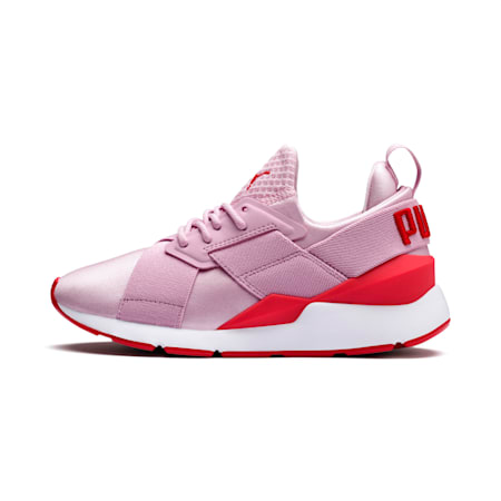 Muse Kids' Trainers, Pale Pink-Hibiscus, small-IND