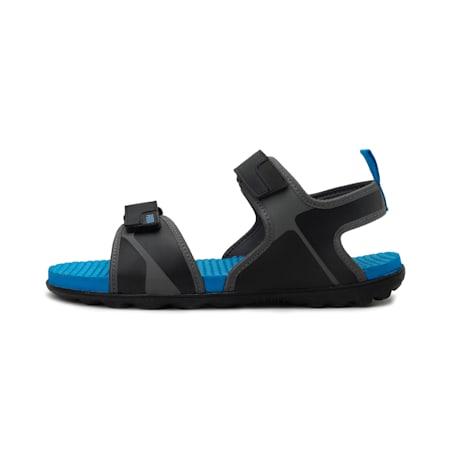 Silicis NU IDP Men's Sandals, Black-DShadow-Indigo Bunting, small-IND