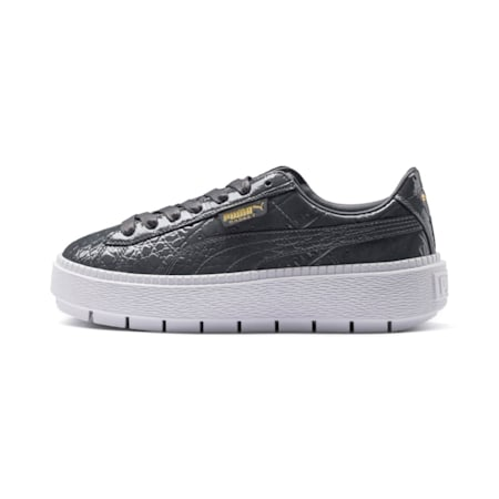 Platform Trace Exotic Lux Women's Sneakers, Iron Gate-Iron Gate, small-IND