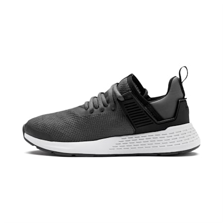 Insurge Mesh Youth Sneakers, Asphalt-Puma Black-White, small-IND