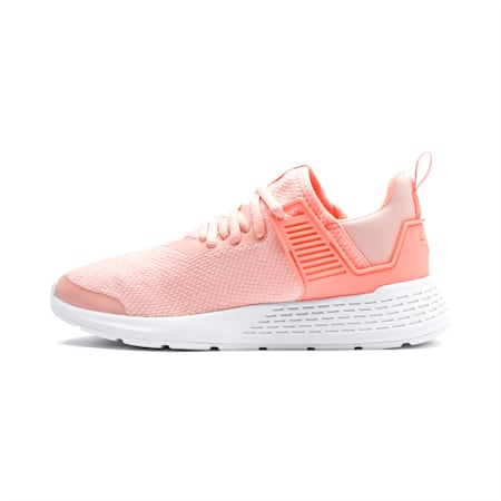 Insurge Mesh Youth Sneakers, Peach Bud-Bright Peach-White, small-IND
