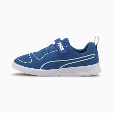 Kali V Kids' Trainers, Palace Blue-White-High Rise, small-SEA