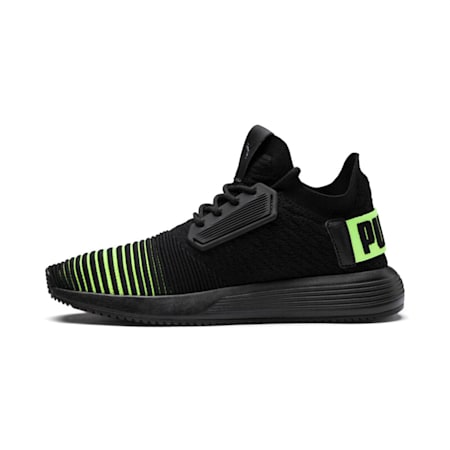 Uprise Color Shift Jr Sneakers, Puma Black-Limepunch, small-IND