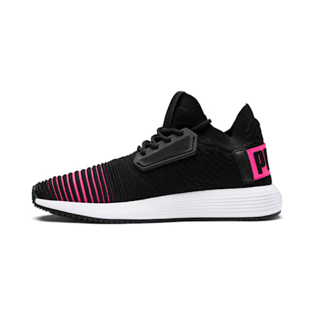 Uprise Color Shift Jr Sneakers, Black-KNOCKOUT PINK-White, small-IND