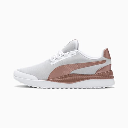 Pacer Next FS Knit Trainers, Puma White-Rose Gold, small