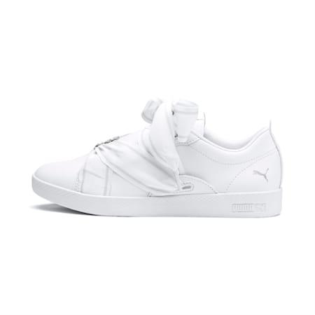 PUMA Smash Women's Buckle Shoes, Puma White-Puma Silver, small-IND