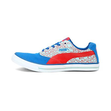 Rap Unisex Sneakers, Wht-TurkSea-RibbRed-Aquifer, small-IND