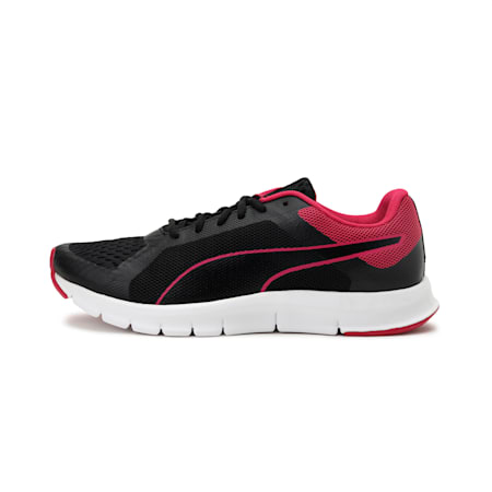Tracker IDP Women's Running Shoes, Black-Beetroot Purple-White, small-IND