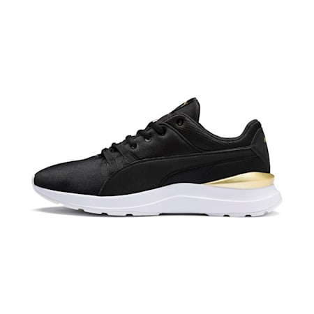 Adela Satin Women's Trainers, Puma Black - Puma Black, small