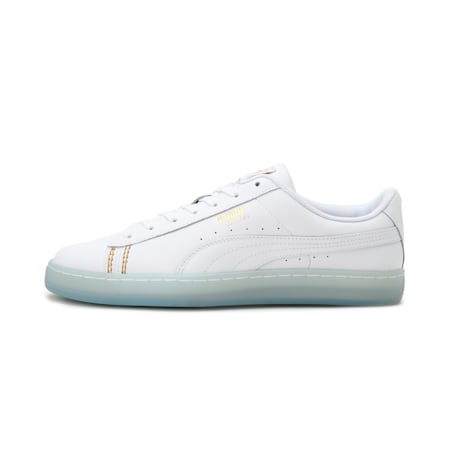 PUMA x Basket Classic one8 Unisex Sneakers, White-Team Gold-Bleu Azur, small-IND