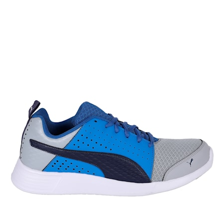 ST Trainer Perf v2 IDP Puma Black-QUIET, Quarry-Peacoat-Strong Blue, small-IND