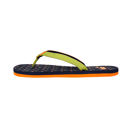 Tiara JR IDP Flip Flops, Peacoat-Orange Pop-Limepunch, small-IND