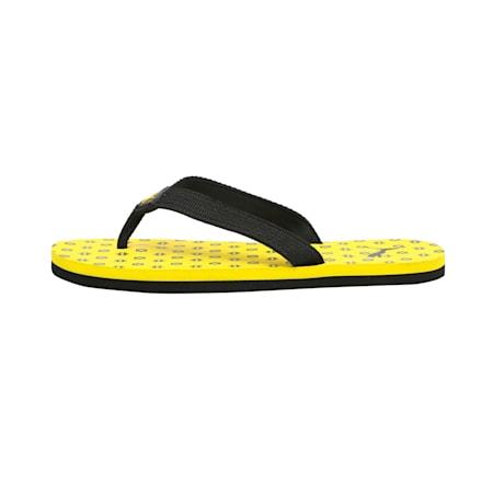 Epic Toss GU IDP Kid's Flip Flop, Puma Black-Vibrant Yellow, small-IND