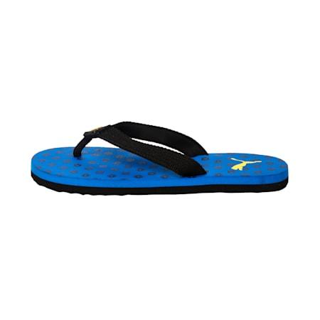 Epic Toss GU IDP Kid's Flip Flops, IndigoBunt-BlazYellow-Black, small-IND