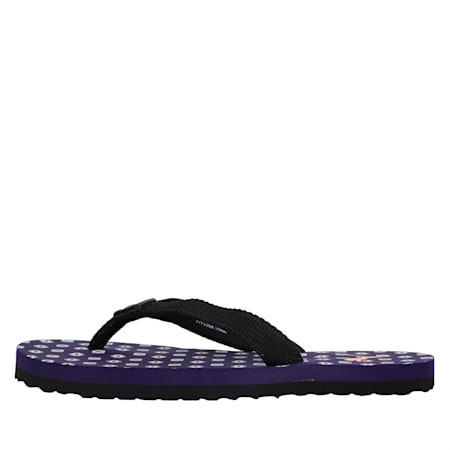 Epic Toss GU IDP Kid's Flip Flops, Indigo-Orange Popsicle-Black, small-IND