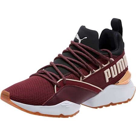 Muse Maia Smet Women's Sneakers, Fig-Puma Black-Birch, small