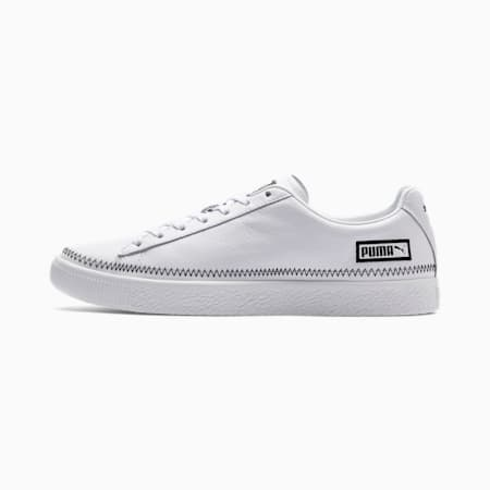 Basket Stitch Trainers, Puma White-Puma Black, small