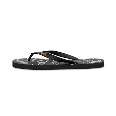PUMA x one8 FF IDP Flip Flops, Blk-White-BuckthornBrown, small-IND