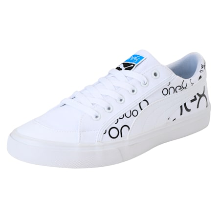 PUMA x one8 Men's Sneakers, White-Black-Bleu Azur, small-IND
