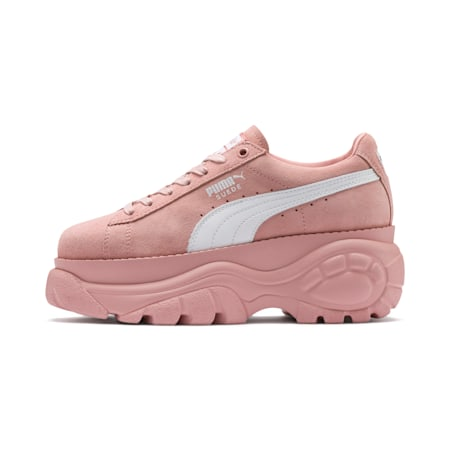 PUMA x BUFFALO Suede Shoes, Mellow Rose-Puma White, small-SEA