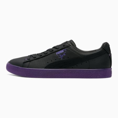 Clyde Black Friday Men's Sneakers, Puma Black-Prism Violet, small