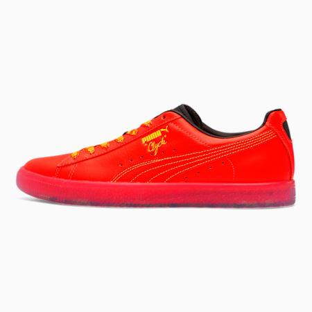 Clyde Game Winner Men's Sneakers, RedBlast-PBlk-BlazingYellow, small