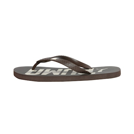 Monk IDP Men's Flip Flops, Chocolate Brown-Pale Khaki, small-IND