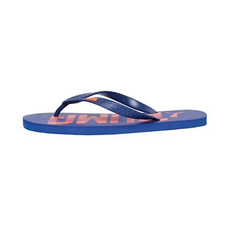 Monk IDP Men's Flip Flops, Vibrant Orange-Sodalite Blue, small-IND
