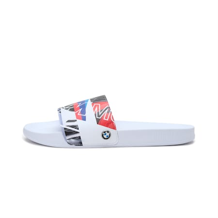 BMW M Motorsport Graphic Leadcat Unisex Slides, P White-P White-HighRisk Red, small-IND