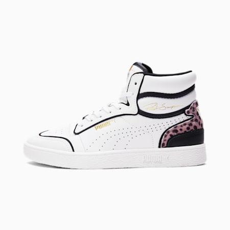 Ralph Sampson Mid Wildcats Women's Sneakers, P White-P Black-Puma T Gold, small