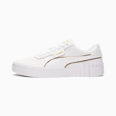 Cali Metallic Women's Sneakers, Puma White-Puma Team Gold, small