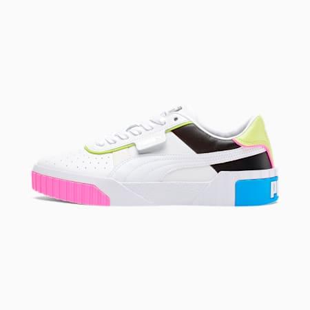 Cali Colorblocking Women's Sneakers, P White-P Black-Sharp Green, small