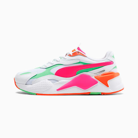 RS-X³ Crazy Sneakers JR, P.White-Glo. Pink-Smer Green, small