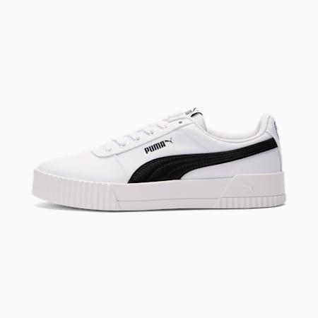 Zapatos Carina Canvas para mujer, Puma White-Puma Black, pequeño