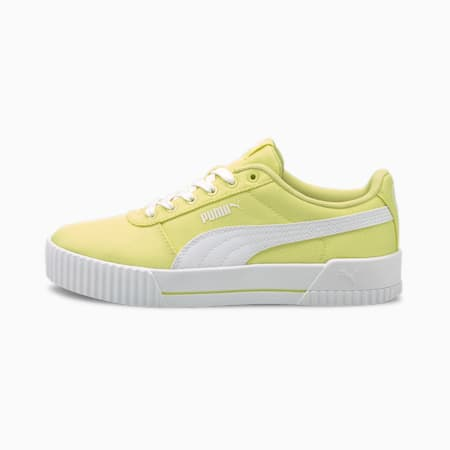 Carina Canvas Women's Sneakers, Yellow Pear-Puma White, small-IND