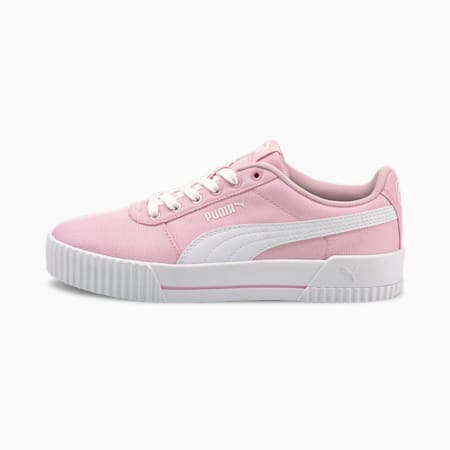 Carina Canvas Women's Trainers, Pink Lady-Puma White, small-GBR
