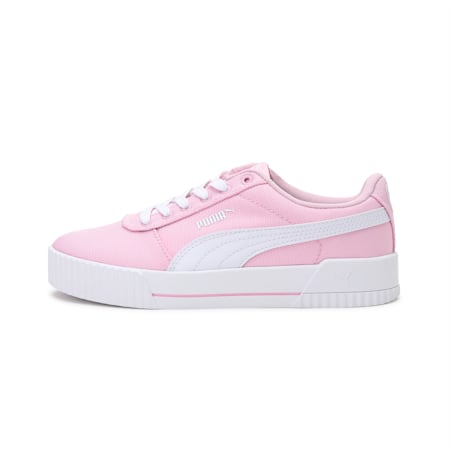 Carina Canvas Women's Sneakers, Pink Lady-Puma White, small-IND
