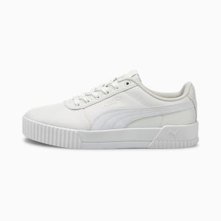 Zapatos Carina Canvas para mujer, Puma White-Puma White, pequeño