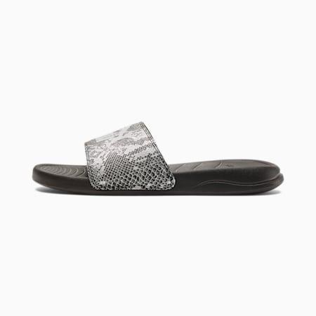 Popcat 20 Reptile Women's Slides, PB-Metallic Silver-GV, small