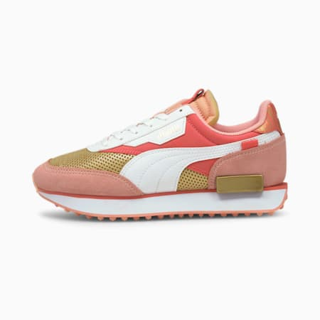 Future Rider Fireworks Youth Trainers, Sun Kissed Coral-Puma White, small-GBR